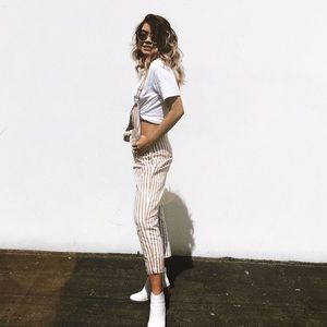 Verge Girl Striped Overalls